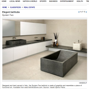 Home spa anyone? Vaselli bathtubs featured in AJC