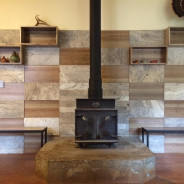 Rustic Italo-American Hearth for California Mountain Living