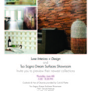 LUXE Interiors + Design and showroom Tuo Sogno show off Lava Stone